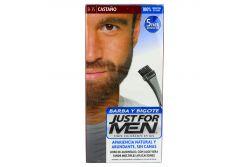 Tinte Just For Men Barba Y Bigote Color Castaño B-35