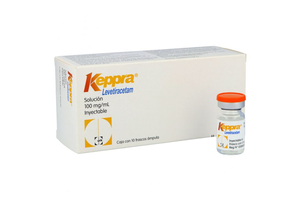 Keppra 100 mg /mL Caja Con 10 Frascos Ámpula
