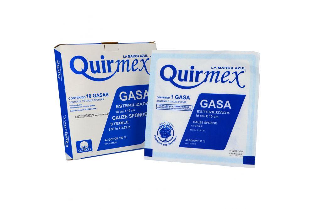 Gasa Esterilizada Quirmex 10 x 10 Caja Con 10 Piezas