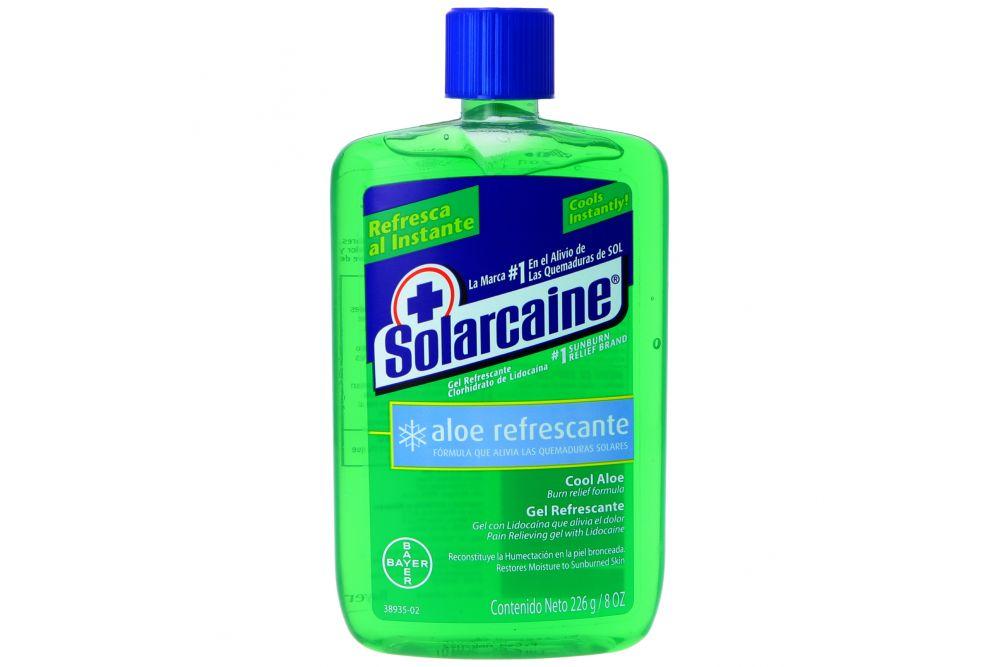 Solarcaine Gel Refrescante Con Lidocaína Botella Con 226 g