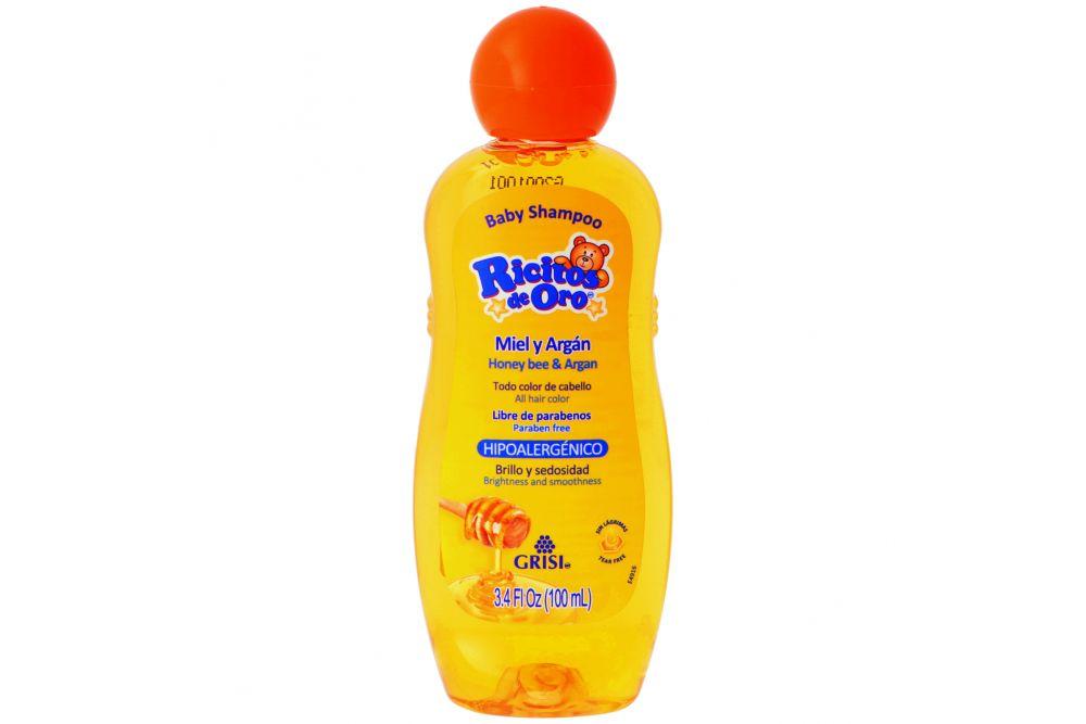 Baby Shampoo Ricitos De Oro Miel Y Argán Botella Con 100 mL