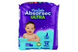 Pañales Kleen Bebé Absorsec Ultra Etapa J Paquete Con 14 Piezas