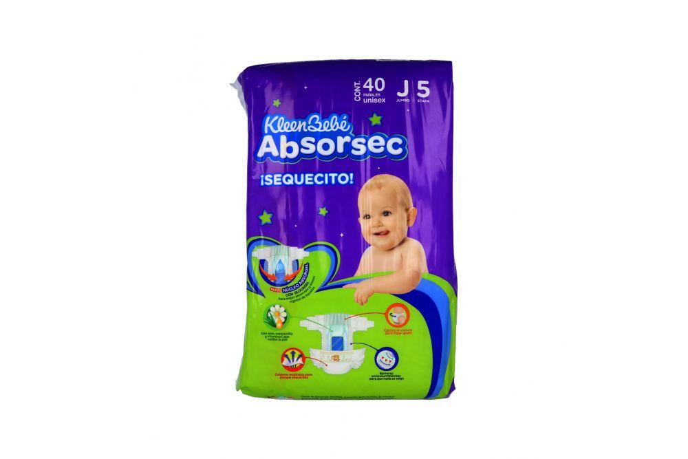 Pañales Kleen Bebé Absorsec Ultra Etapa J Paquete Con 40 Piezas