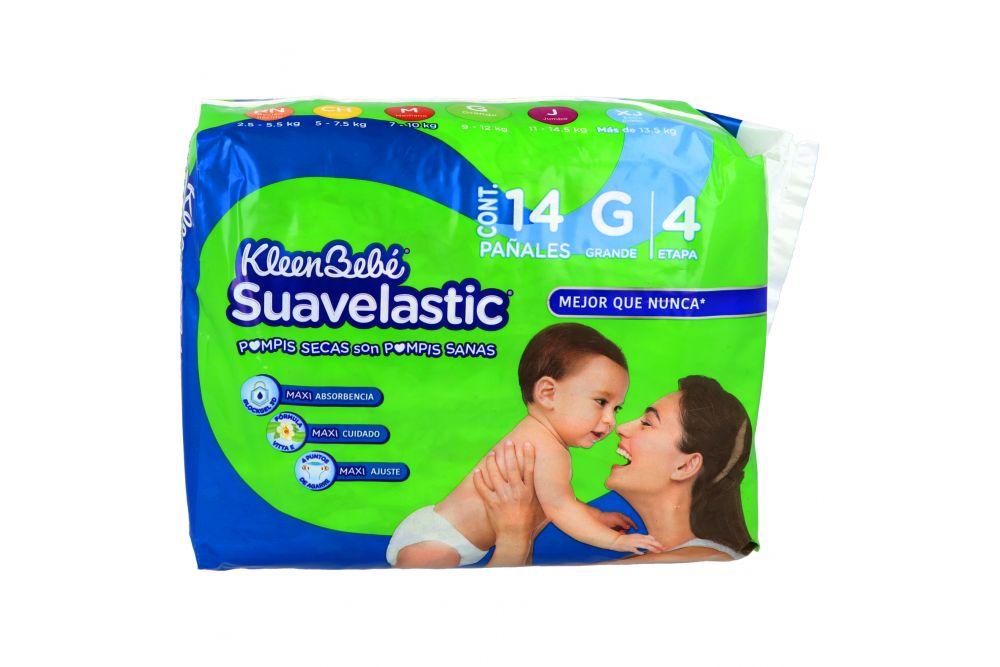 Pañales Kleen Bebé Suavelastic G Etapa 4 Paquete Con 14 Piezas