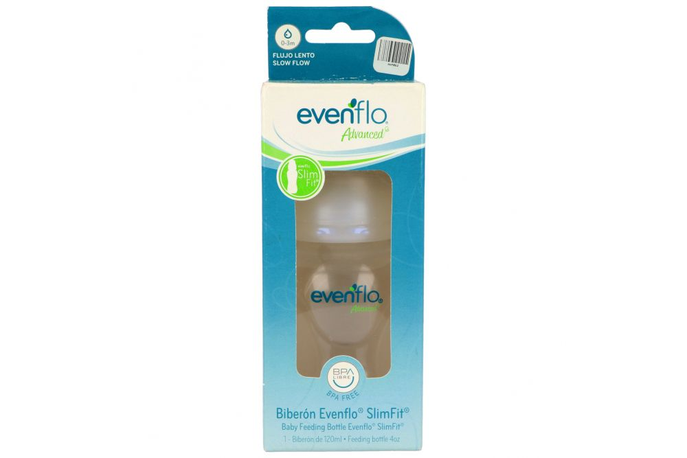 Biberón SlimFit 120 mL Evenflo Advanced Caja Con 1 Pieza