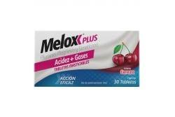 Melox Plus Caja Con 30 Tabletas Masticables Sabor Cereza
