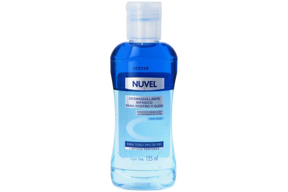 Desmaquillante Bifásico De Rostro Y Ojos Nuvel Botella Con 125 mL