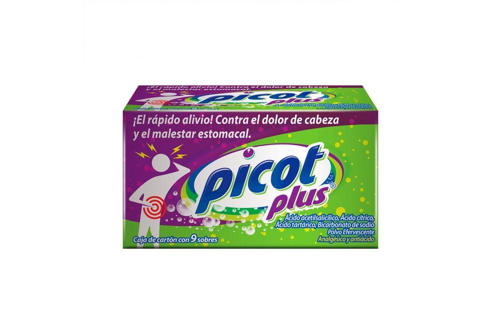 Sal De Uvas Picot Plus Caja Con 9 Sobres
