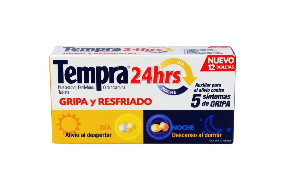 Tempra 24 Horas Gripe