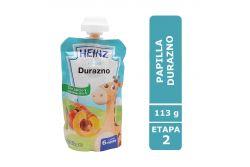 Papilla Heinz Empaque Flexipack Sabor Durazno Con 113 g