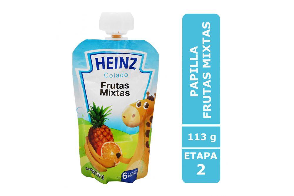 Heinz Papilla Sabor Frutas Mixtas Empaque Flexipack con 113g