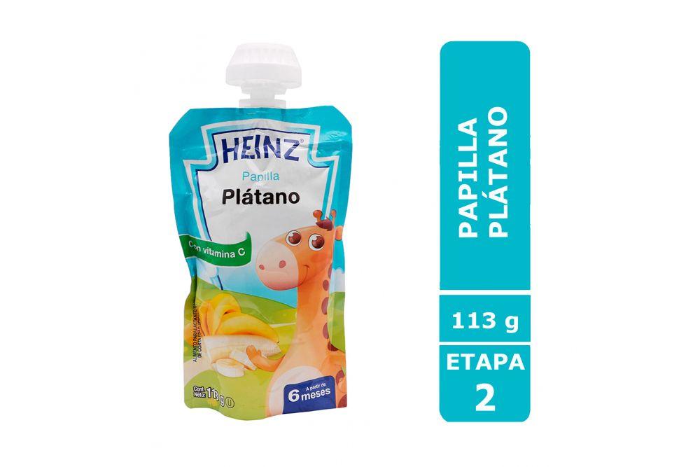 Papilla Heinz Empaque Flexi Pack Sabor Plátano Con 113 g