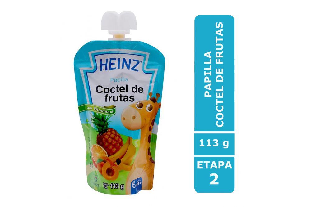 Papilla Heinz Empaque Flexipack Sabor Coctel De Frutas Con 113 g