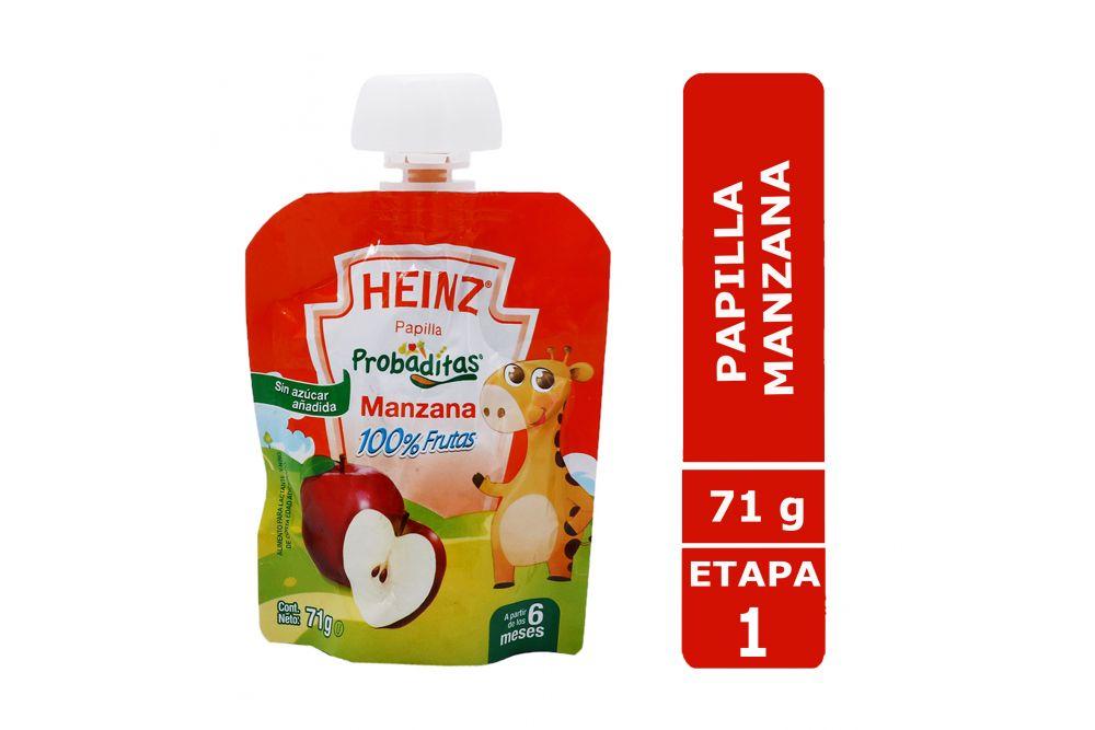 Papilla Heinz Empaque Flexipack Sabor Manzana Con 71 g