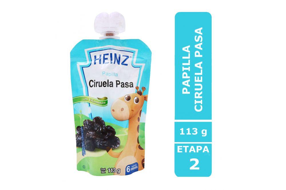 HEINZ PAPILLA SABOR CIRUELA PASA EMPAQUE CON 113 G