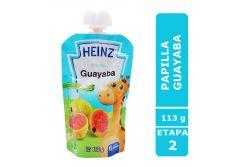Papilla Heinz Empaque Flexipack Sabor Guayaba Con 113 g