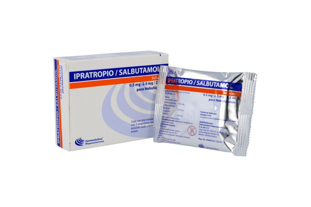 Ipratoprio 50 mg/Salbutamol 2.5 mg Solución Caja Con 10 Ampolletas