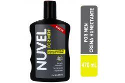 Crema Humectante Nuvel For Men Frasco Con 470 mL