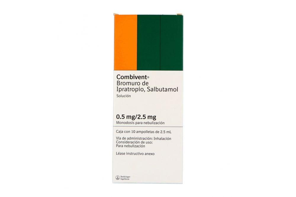 Combivent Solución 0.5 mg /2.5 mg Caja Con 10 Ampolletas