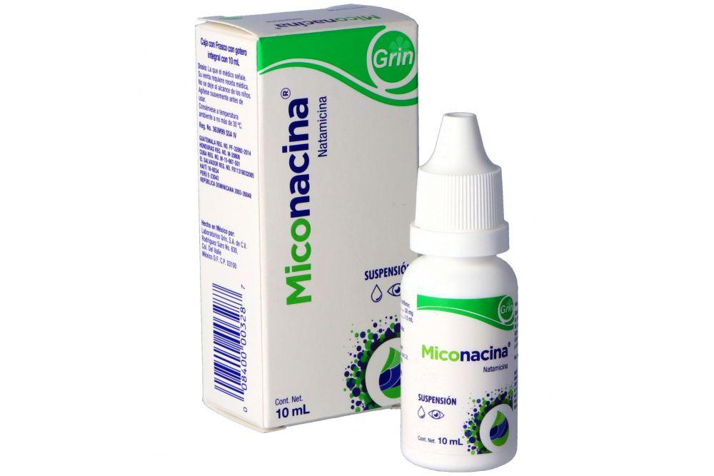 Miconacina Suspensión Oftálmica 50 mg Caja Con Frasco Gotero Con 10 mL