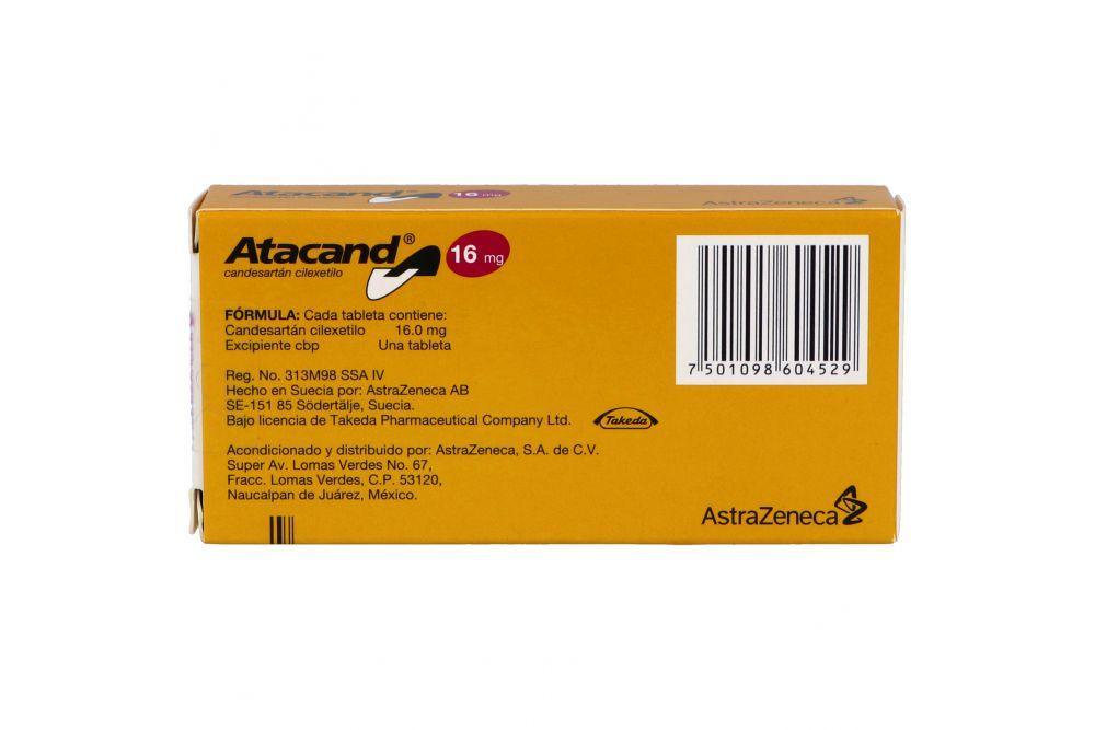 Atacand 16 mg Caja Con 28 Tabletas