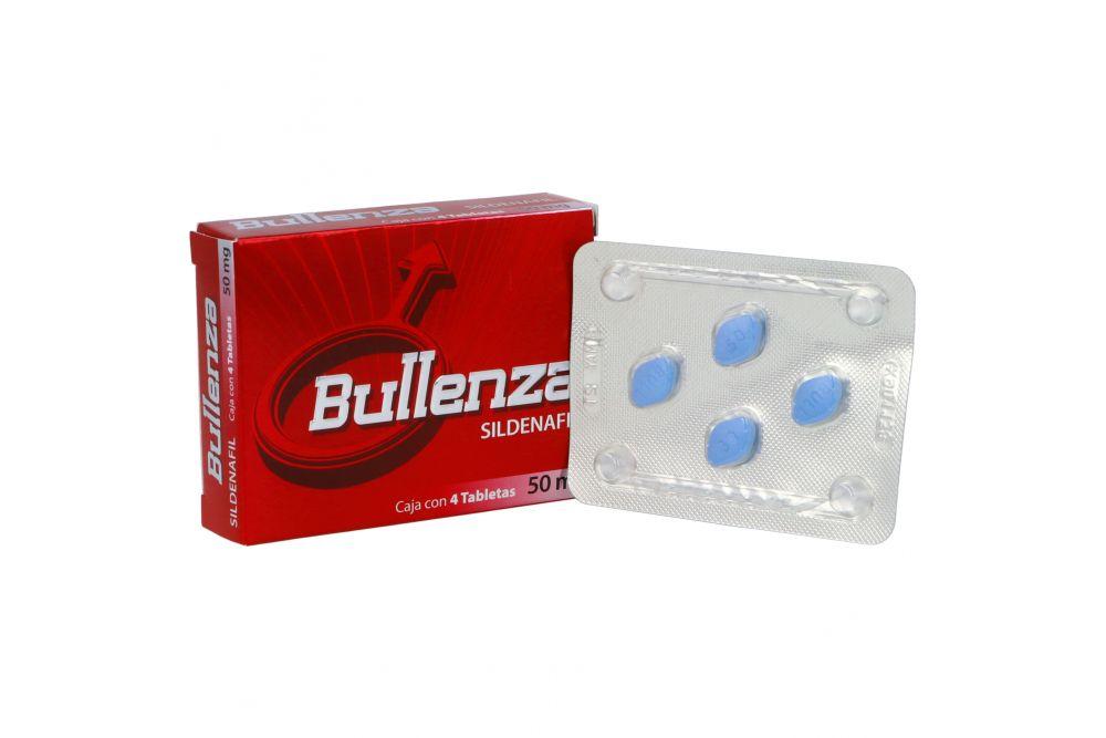 Bullenza 50 mg Caja Con 4 Tabletas