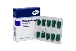 Vibramicina 100 mg Caja Con 10 Cápsulas RX2