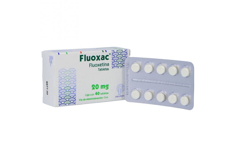 Fluoxac 20 mg Caja Con 40 Tabletas