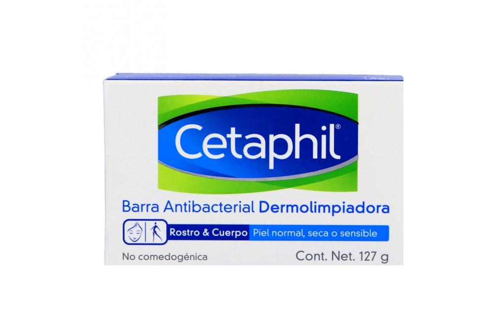 Cetaphil Barra Antibacterial Dermolimpiadora Caja Con Barra De 127 g