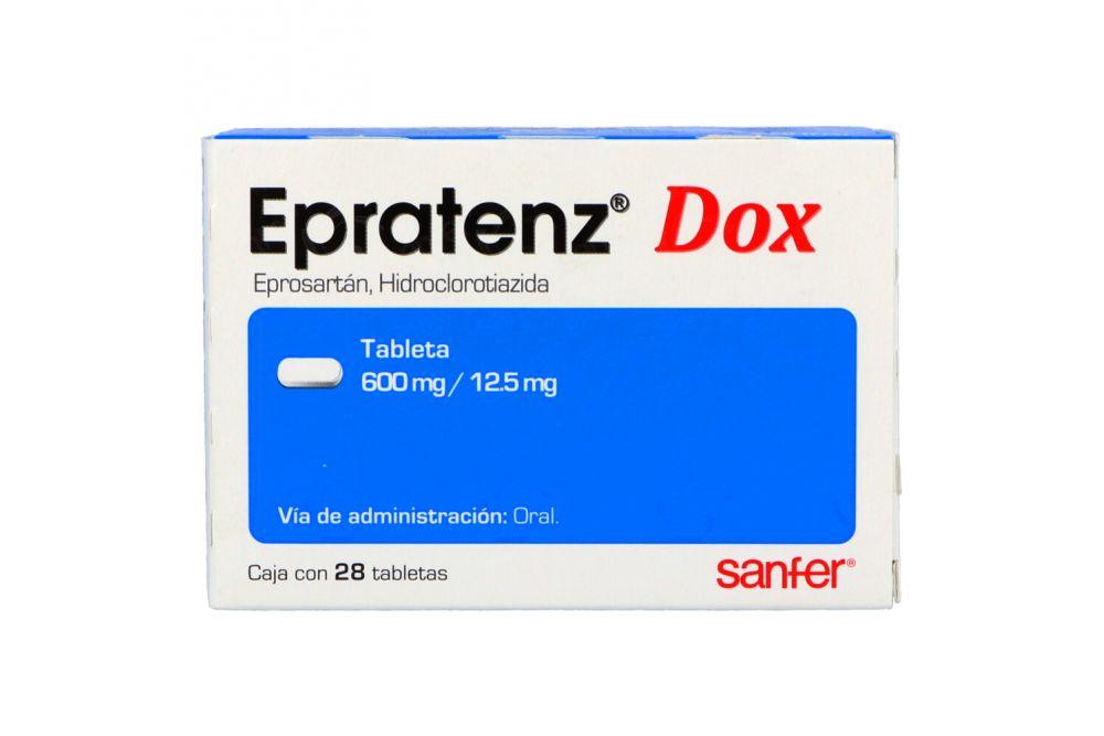 Epratenz Dox 600 mg /12.5 mg Caja Con 28 Tabletas