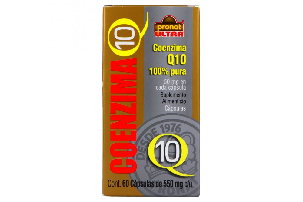 Coenzima Q10 550 mg Caja Con Frasco Con 60 Tabletas