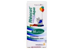 Rhinocort Aqua Pediátrico 32 Mcg Caja Con Frasco Con 6 mL 120 Dosis