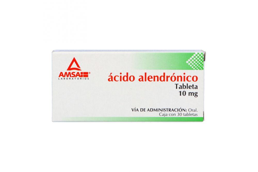 Ácido Alendrónico 10 mg Caja Con 30 Tabletas