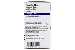 Trayenta Duo 2.5 mg /1000 mg Caja Con 60 Tabletas