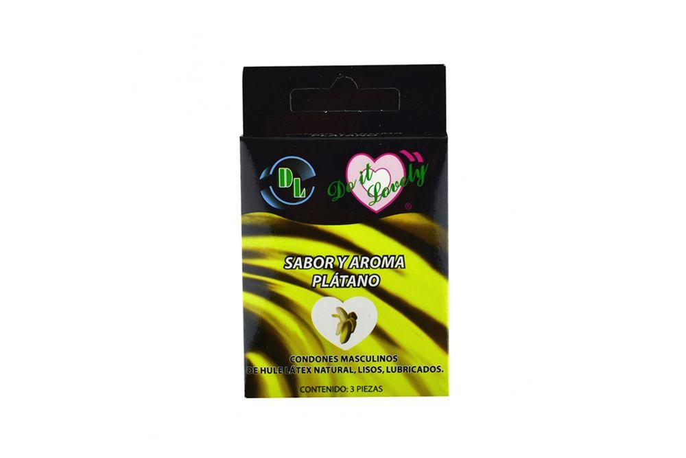 DL Preservativo Aroma Plátano Caja Con 3 Piezas