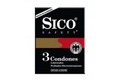 Sico Safety Caja Con 3 Condones Lubricados