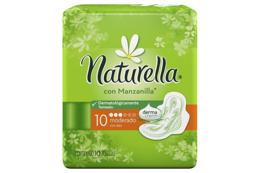 Naturella Con Manzanilla Toallas Sanitarias Con 10 Piezas