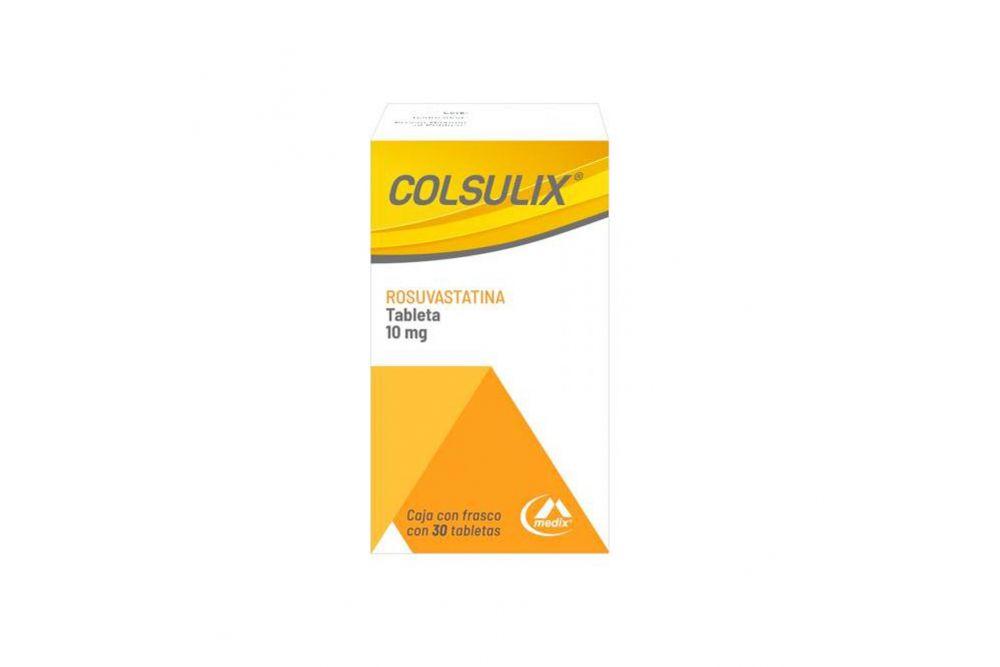 Colsulix 10 mg Caja Con Frasco Con 30 Tabletas