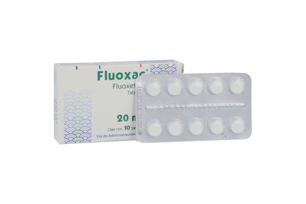 Fluoxac 20 mg Caja Con 10 Tabletas