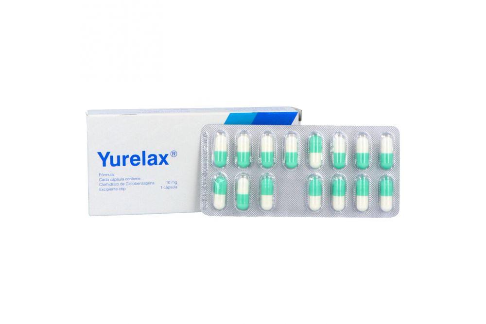 Yurelax 10 mg Caja Con 30 Cápsulas