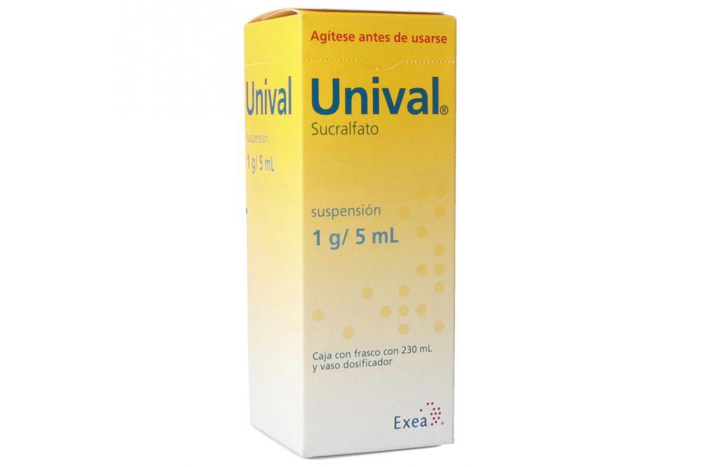 Unival Suspensión 1 g/ 5 mL Caja Con Frasco Con 230mL