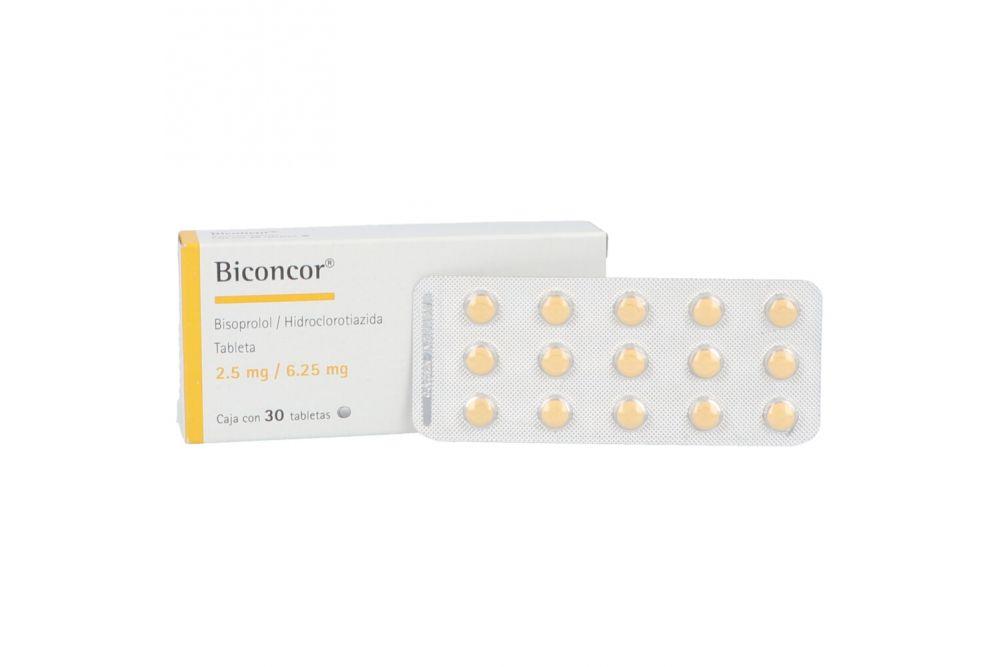 Biconcor 2.5 mg / 6.25 mg Caja Con 30 Tabletas