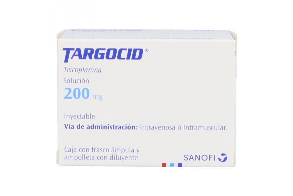 Targocid 200 mg Con Frasco Ámpula y Diluyente Con 3 mL -RX2