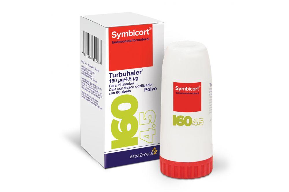 Symbicort 160 Mcg/4.5 Mcg Caja Con Frasco Dosificador Con 60 Dosis