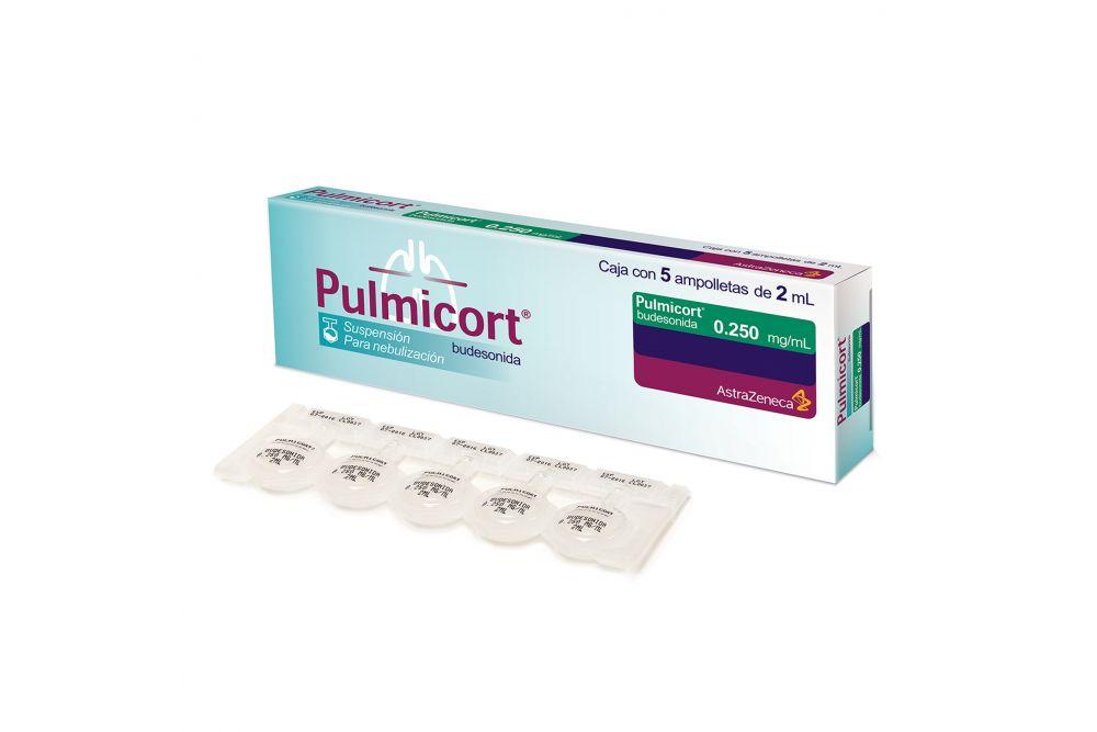 Pulmicort  Suspensión 250 mg / mL Caja Con 5 Ampolletas de 2 mL