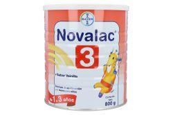Novalac 3 Sabor Vainilla 1-3 años Lata Con 800 g