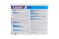 Losec A-20 20 mg reflujo o acidez