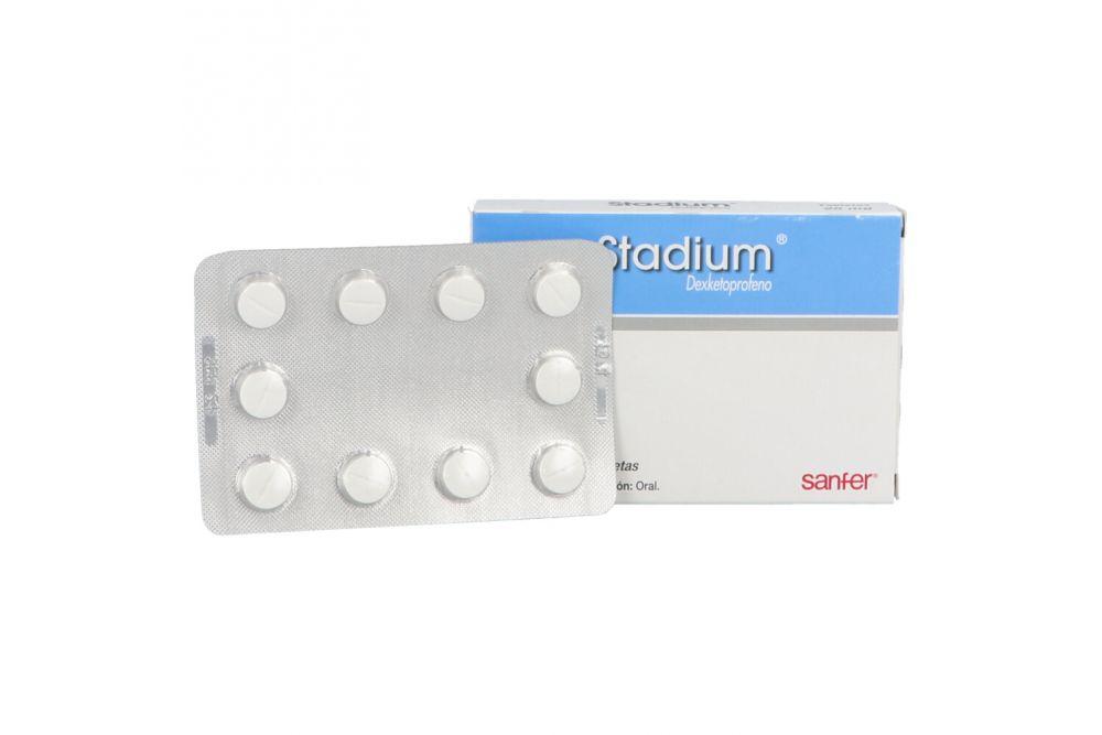 Stadium 25 mg Caja Con 10 Tabletas