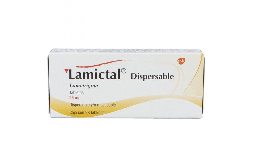 Lamictal Dispersable 25 mg Caja Con 28 Tabletas