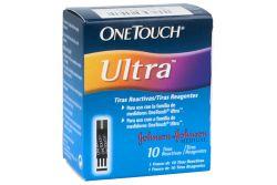 One Touch Ultra Tiras Reactivas Caja Con Frasco Con 10 Piezas